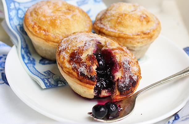 Fresh baked Panbury's blueberry sweet pies