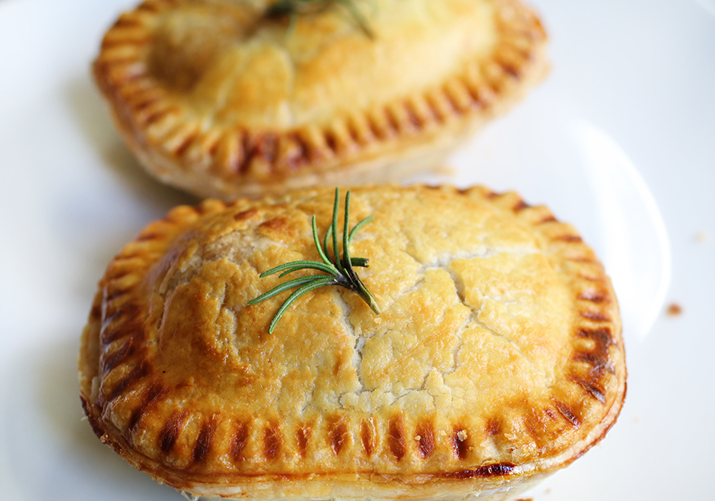 Pies on a plate