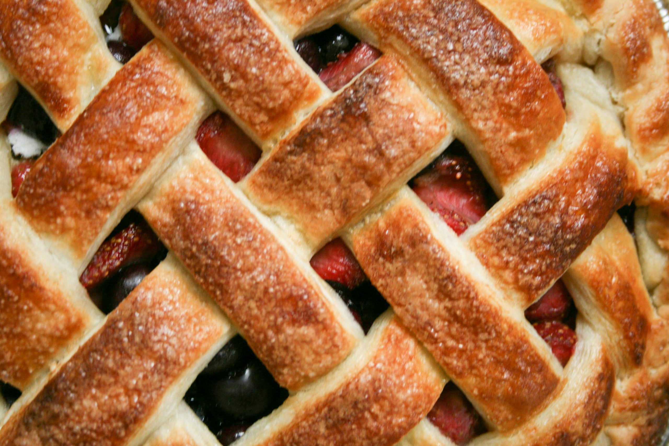 Close up photo of Panbury's Mixed Berry Pie