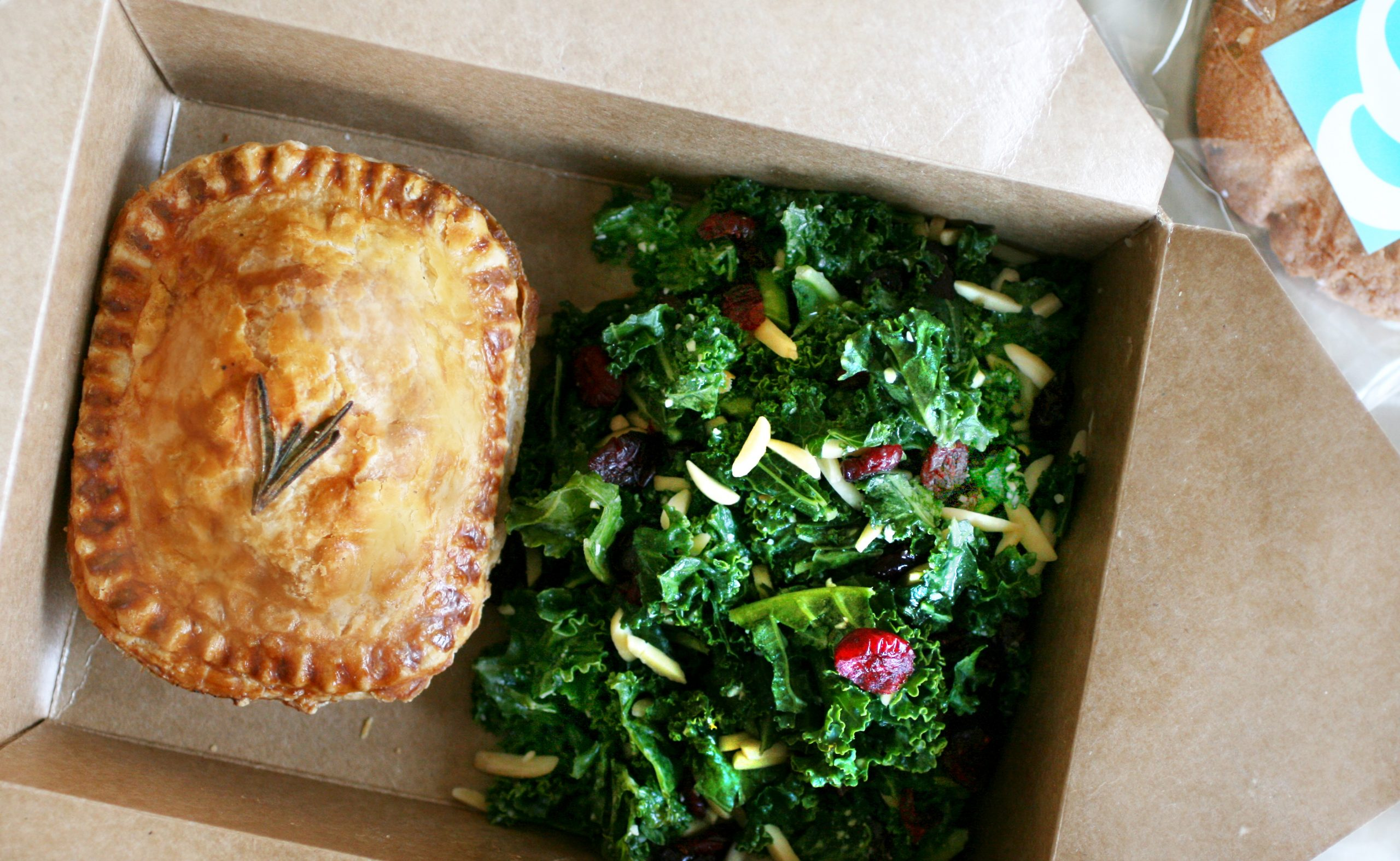 Photo of Panbury's pie and salad lunchbox